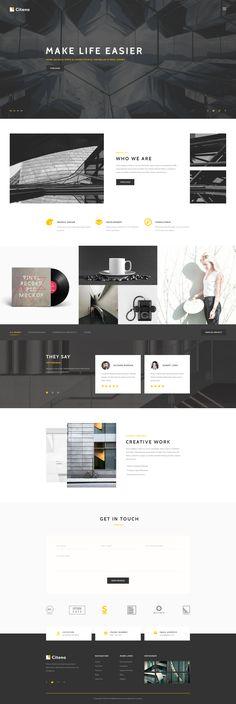 Citeno - Creative PSD Template #corporate #designer #elegant • Download ➝ https://themeforest.net/item/citeno-creative-psd-template/18099286?ref=pxcr