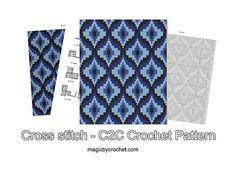 Bargello blanket C2C crochet Graph PDF Chart Instant by GreatHome