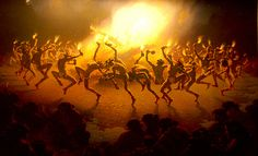 This painting of a tribal dance is representative of worship, namely the natives' worship of Kurtz. The natives of the Congo revere Kurtz for his superior technology, which fuels Kurtz's egomania. Kurtz begins to see himself as a god, ruling the darkness of the Congo and its people.