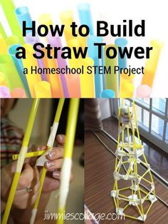 How to Build a Straw Tower: Homeschool STEM Project #homeschool #STEM