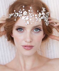 7 Beyond Gorgeous Hair Accessories for Every Member of Your Bridal photographer Stacy Childers   Squad - Ocean Confetti Multipurpose Piece from InStyle.com