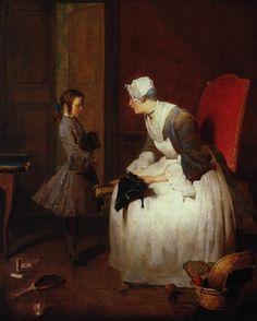 .:. The Governess, 1739 Jean-Baptiste-Simeon Chardin