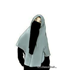kumpulan anime muslimah bercadar keren - my ely Muslim Pictures, Islamic Pictures, Muslim Girls, Muslim Women, Hijab Drawing, Islamic Cartoon, Niqab Fashion, Hijab Cartoon, Islamic Girl