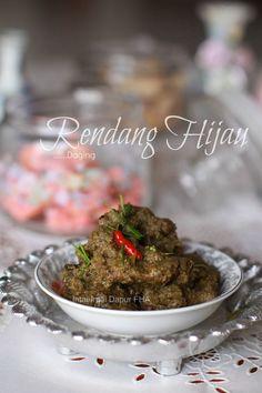 Intai-Intai Dapur FHA: RENDANG HIJAU DAGING Asian Kitchen, Malaysian Food, Beef, Dishes, Cooking, Recipes, Ethnic, Meat, Kitchen