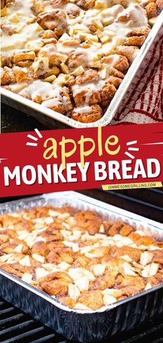 The perfect camping meal for a delicious breakfast idea or brunch! This Apple Monkey Bread is a grilling recipe stuffed with tender, juicy apples and topped with icing. Plus, you can also make this bread recipe in the oven! Apple Recipes Easy, Dutch Oven Recipes, Easy Homemade Recipes, Quick Bread Recipes, Cinnamon Recipes, Summer Grilling Recipes, Camping Recipes, Camping Meals, Summer Recipes