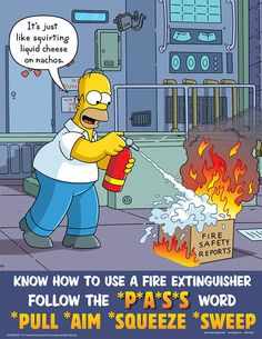 The Simpsons Safety Poster Safety Meeting, Safety Week, Lab Safety, Safety Tips, Food Safety, Driving Safety, Fire Safety Poster, Health And Safety Poster, Safety Posters