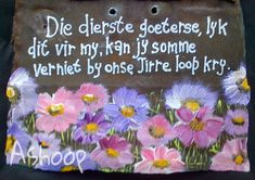 MOOI s^egoed Sweet Quotes, Cute Quotes, Secretary's Day, Scarecrow Crafts, Afrikaanse Quotes, Goeie Nag, Goeie More, Inspirational Verses, Prayer Box
