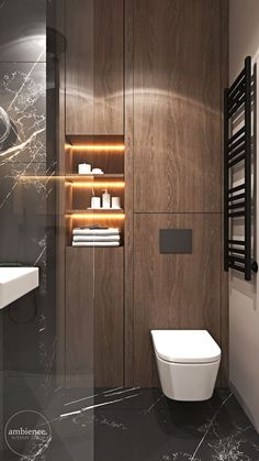 Mieszkanie w kolorze kaszmiru – Ambience. Bathroom Design Luxury, Modern Bathroom Design, Modern Toilet Design, Wc Design, Restroom Design, Interior Design Photos, Target Home Decor, Hippie Home Decor, Bathroom Inspiration