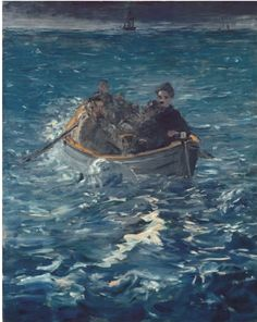 Edouard Manet, The Flight of Henri Rochefort on ArtStack #edouard-manet #art