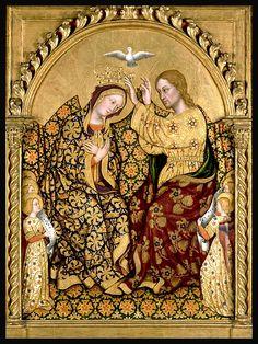 Gentile da fabriano, incoronazione della vergine, 1420, tempera e oro su tavola, 87,5 cm x 64 cm, Getty Center Los Angeles