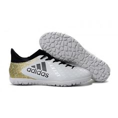 newest b355f ec822 Adidas X 16.3 TF Fotballsko For Herre Hvit Gull Svart