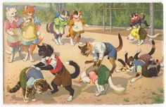 Mainzer's cats - leap frog by Emma Paperclip, via Flickr