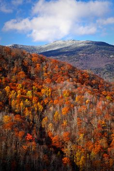 NC mountains ... late Fall, with early snow on the peaks and high ridges