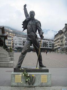 Freddie Mercury statue, Montreux, Switzerland via I'm an Outlaw, Not a Hero