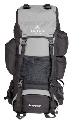 4cc9ce3110 TETON Sports Explorer 4000 Internal Frame Backpack Great Backpacking Gear  Backpack for Men and Women Hiking Backpacks for Camping and Hunting  Metallic ...