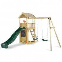 Plum® Wooden Lookout Climbing Frame Play Set