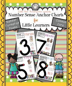 Little Bird Kindergarten: Number Sense Anchor Charts for Little Learners