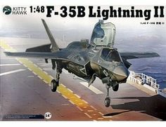 The Kitty Hawk Lockheed-Martin F-35B Lightning II in 1/48 scale from the Kitty Hawk plastic aircraft model kits range accurately recreates the real life US multi-role fighter aircraft.   This model requires paint and glue to complete.