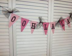 Ooh La La Lingerie Bachelorette Party Banner, Bridal Shower Decoration