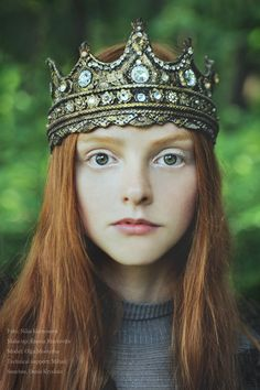 model, princess, hair colors, ginger, red hair, crown, the queen, fairy tales, fairi
