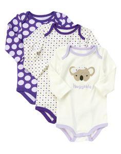 Huggable! Our soft bodysuits make dressing baby super easy.