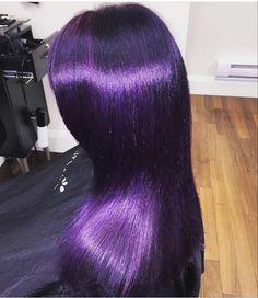 Hair Purple Ombre Haircuts Best Ideas - All Hair Styles Dark Purple Hair, Lilac Hair, Hair Color Purple, Cool Hair Color, Purple Ombre, Hair Colors, Dark Ombre, Purple Style, Pastel Hair
