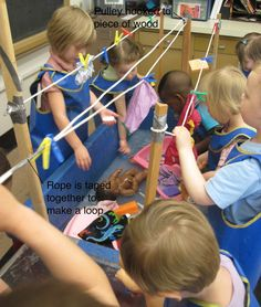 There are some apparatus I install every year at the sensory table. The Clothesline is one of them.    The apparatus is for the children to...