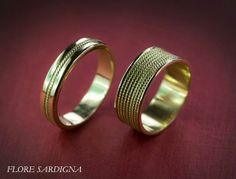 Flore Sardigna, gold wedding rings