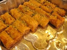 EASY BAKLAVA!!! made this yesterday! super good ! i used crushed walnut and almonds--margarine for fasting/vegans !