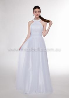 Miss Bella has THE LARGEST Range of Brand-New, In-Store Deb Dresses in Melbourne. We have over Deb Dresses to buy off the rack! Deb Dresses, Prom Dresses, Formal Dresses, Wedding Dresses, Debutante Dresses, Bella Bridal, Halter Neck, One Shoulder Wedding Dress, White Dress
