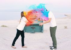 REVEL: Colorful Engagement Shoot