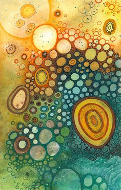 doodle illustration landscape painting colorful artwork, Courtney Autumn Martin