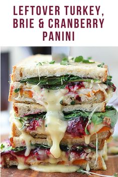 Make use of those Thanksgiving leftovers the right way: with a delicious turkey, brie & cranberry panini | the INSPIRED home