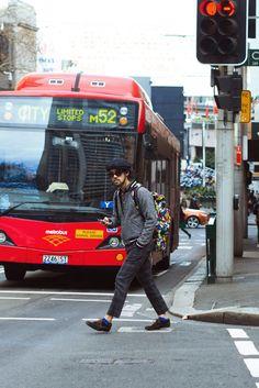 http://chicerman.com  meninthistown:  Grey and colour.  #streetstyleformen