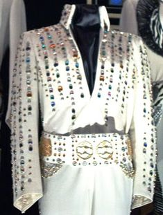 The Multi - Colored Rain jumpsuit. Worn during the January - February 1973 Las Vegas engagement.