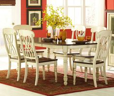 Monarch specialties 7 piece 78x40 dining room set in dark for 7 piece dining room sets on sale