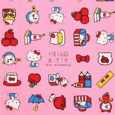 Pink Hello Kitty Umbrella Ruler Mug Item Oxford Fabric