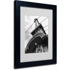 Trademark Fine Art Manhattan Bridge Detail Framed Canvas Art by Chris Bliss, Size: 11 x 14, Multicolor