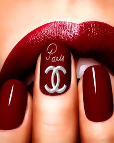 Chanel nails...I SHOULD be wearing this colour nails and lips...
