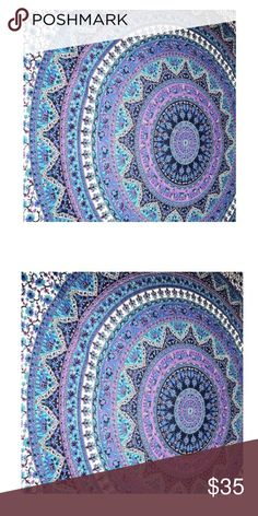 Large Indian Mandala Tapestry Units are darker than the image 100 percent cotton made Beautiful Wall Hanging Hippie mandala Tapestry Dorm Beach Throw Wall hanging Wall art tapestry Other