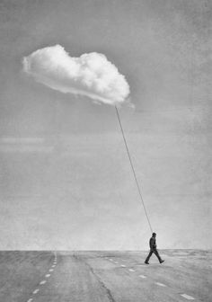 Clouds created by human mindset Surrealism Photography, Conceptual Photography, White Photography, Fine Art Photography, Shooting Photo, Surreal Art, Photo Manipulation, Belle Photo, Collage Art