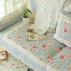 Shabby Chic Cottage Country Quilted Couch Sofa Loveseat Protector Cover Mat D Shabby Chic Mode, Shabby Chic Interiors, Shabby Chic Kitchen, Shabby Chic Cottage, Shabby Chic Style, Shabby Chic Decor, Country Kitchen, Kitchen Decor, Shabby Chic Living Room Furniture