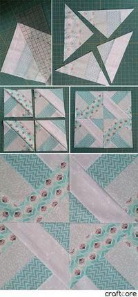 How to Make the Diagonal Slice DIamond Quilt Block - Step by Step Tutorial by Craftcore —-want to make a runner with this pattern Quilting For Beginners, Quilting Tutorials, Quilting Projects, Quilting Designs, Baby Quilt Tutorials, Quilting Tips, Strip Quilts, Patch Quilt, Quilt Blocks