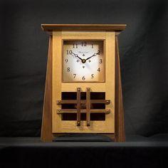 Craftsman / Mission / Arts & Crafts Style Mantel Clock / White