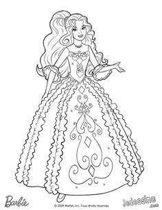 Barbie Coloring Page341 Coloriage De Rene Dans Sa Belle Robe