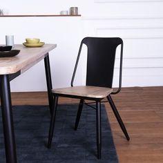 RESTPOSTEN Stuhl Charly Naturel//Hellblau design kantig bistro küche Polster...