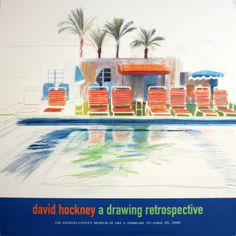 Eight Sunchairs by a Pool Collectable Print David Hockney