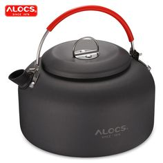ALOCS CW - Aluminum Outdoor Kettle for Camping Hot Water Tea - Gray - & Entertainment, Camping & Hiking, Camping Stoves # # Camping Gas, Camping Water, Camping With Kids, Outdoor Camping, Mini Stove, Camping Pillows, Camping Equipment, Sports Equipment, Kettle