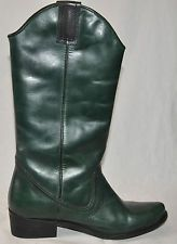 MIA Santa Fe Green Leather Western-Style Cowboy Boots Size 6M NEW! $139