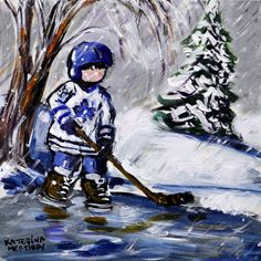 sip and paint 2018 acrylic canvas painting Winter Painting, Painting For Kids, Figure Painting, Sport Craft, Abstract Pictures, Paint And Sip, Hockey Stuff, Hockey Mom, Ice Hockey
